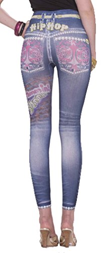 Forum Novelties Women's Novelty Hip-Hop Jean Leggings, Multi, X-Small/Small by Forum Novelties
