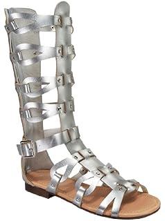 d6db1f4703d Link atta 07K Little Girls Strappy Gladiator Comfort Flat Sandals Tan