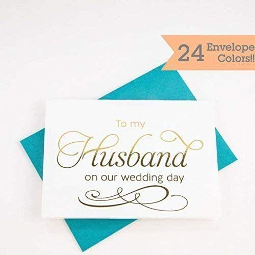 To My Husband On Our Wedding Day: Amazon.com: To My Husband On Our Wedding Day Card (WC004