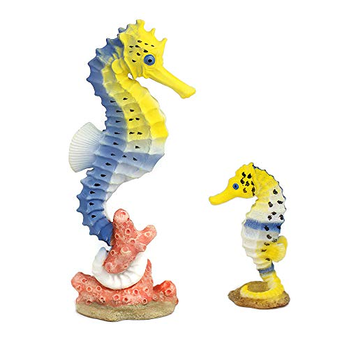 - Amakunft 2-Pack Seahorse Fish Tank Decoration, Resin Aquarium Figure Ornament