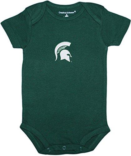 Michigan State University Spartans Newborn Baby Bodysuit,Hunter,6-9 Months