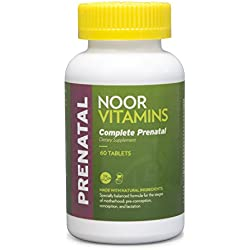 NoorVitamins Prenatal Easy-Swallow Tablets - 60 Count - Halal Vitamins
