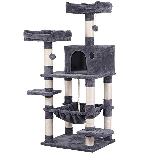 Yaheetech 58in Luxurious Multi-Level Cat Tree Condo