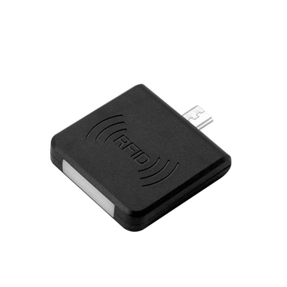 heaven2017 Micro USB Interface NFC IC Card Mini RFID Reader for Android Cell Phone with Micro USB Port Black