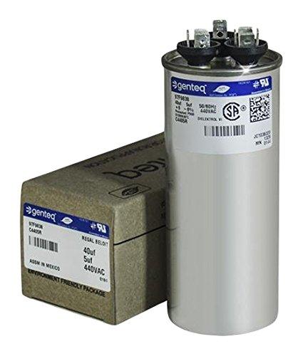 Genteq 97F9838/C4405R Round Capacitor 40 5 UF MFD, (Round Capacitor)