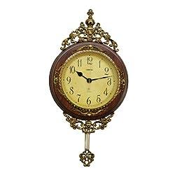 Three Star IMEX Antique Style Pendulum 24 x 15 Wall Clock Classic Home Decor