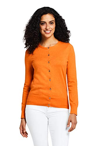 (Lands' End Womens Cardigan Sweater | Supima Cotton Cardigan Sweater for Women)