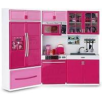 Mutfak Seti Modern Buzdolaplı büyük mutfak seti ışıklı