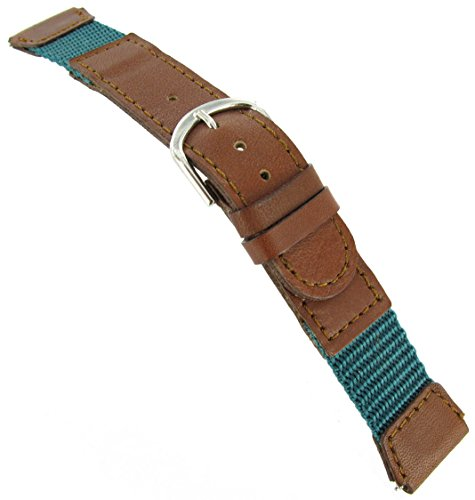 18mm Flex-on Watch Band Fits Timex Expedition with Free Spring (Aqua Womens Watch Band)