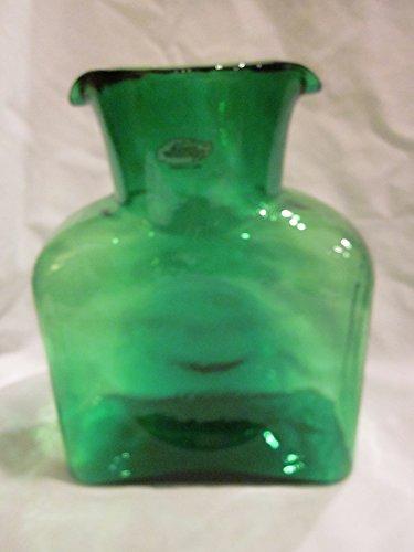 Blenko Glass Handblown Green Double Spouted Water Pitcher (8