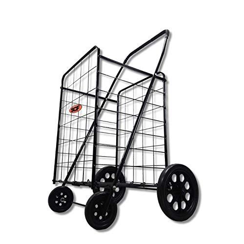 All Purpose Folding Cart - Premium Extra Large Light Weight Folding Shopping Grocery Storage Cart Jumbo Size