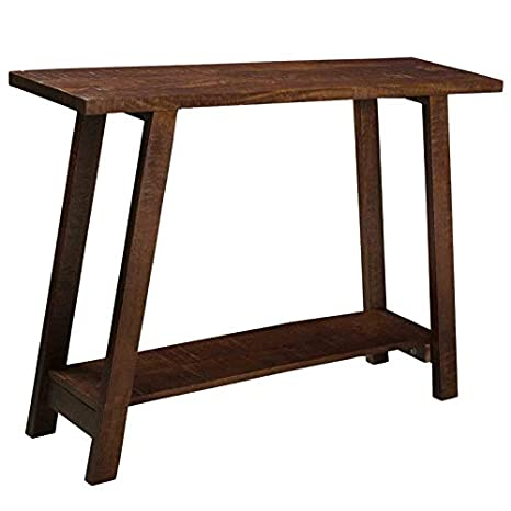 Amazoncom Kalam Rustic Modern Solid Wood Console Table In Walnut