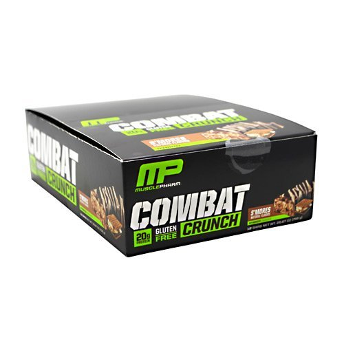 Combat Smores (MusclePharm - Combat Crunch. S'mores - 2.22oz each - Box of 12 - SUMMER BUNDLE WITH COLD PACK - 2 Boxes - (Product image may vary based on Manufacturer's updates))