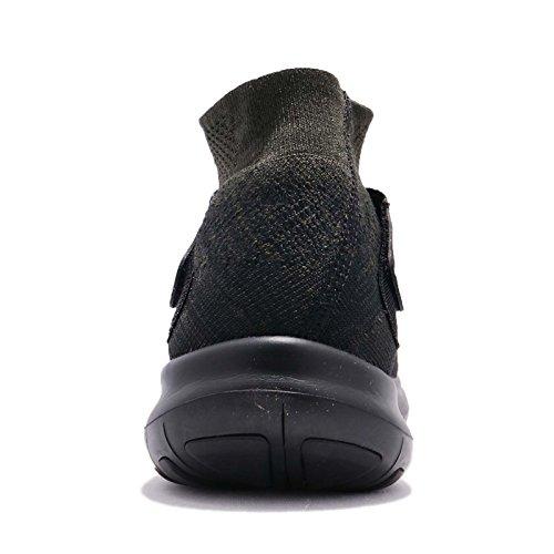 Nike Mens Free Rn Motion Flyknit 2017 Scarpa Da Corsa Nero / Grigio Scuro-antracite-volt 9.0 (10 D (m) Us, Sequoia / Cargo Kaki-nero)