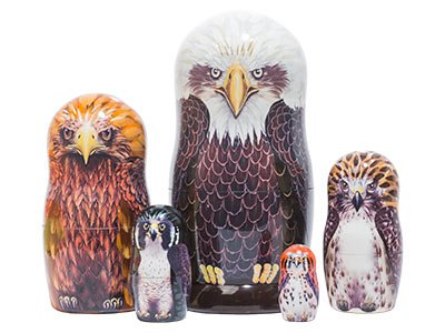 Wild Birds Nesting Doll 5pc./6'' by Golden Cockerel (Image #4)