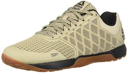 Reebok Women's CROSSFIT Nano 4.0 Cross Trainer, Light Sand/Black Rubber Gum, 8.5 M US (Best Shoes For Crossfit Beginners 2019)