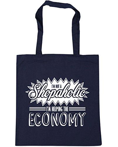 HippoWarehouse I 'm a presión que no estoy ayudando A la economía bolsa de la compra bolsa de playa 42cm x38cm, 10litros azul marino