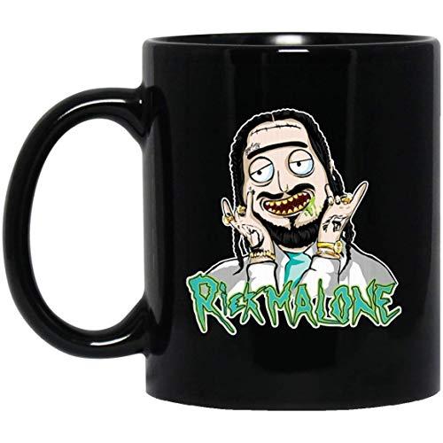 POST MALONE RICK MALONE 11 oz. Black Mug Coffee Mug for Office Funny Terrible Image Great Gift Christmas Halloween Easter.]()
