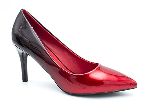 Fashion Shoes, Damen Pumps Rouge/Noir(8cm)