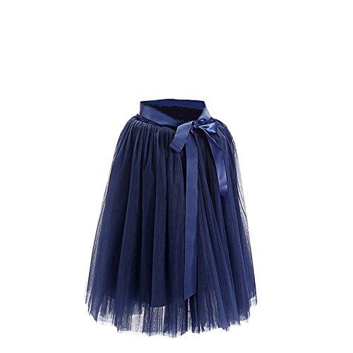 Rockabilly Marine Vintage En Tutu Longue Anne SaiDeng Jupon Style Rtro Petticoat Femme Tulle 50 Elastique Xnqw6HPx