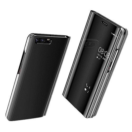 Funda Huawei P10 Plus/P10 Lite/P10 Fecha Carcasa Modelo Fip Inteligente Clear View una casa Delgado Metal Espejo Carcasa Protección Duro Función