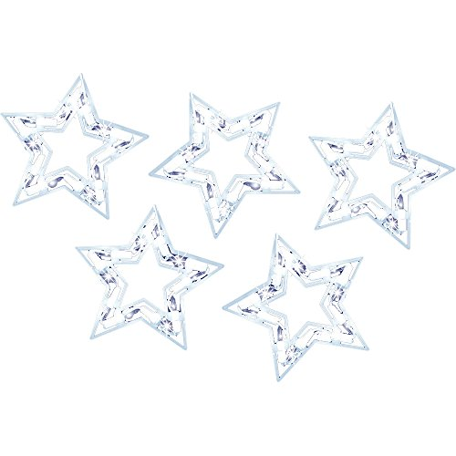 Sienna Shimmering Star Icicle Light 10-Piece Set
