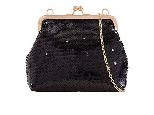 for Pearl Clutch Diva Studs Haute Bag Black Gold Women CAwqxwB