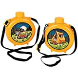 Camp Adventure Canteens ~ Set of 8 ~ Play Plastic Canteens for Kids ~ Party Favors ~ Fun by Fun Express