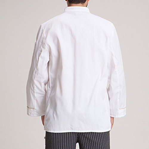 Chef's White Shirt Work Long Clothes Sleeve Comfortable Zhhlaixing Jacket awOTH