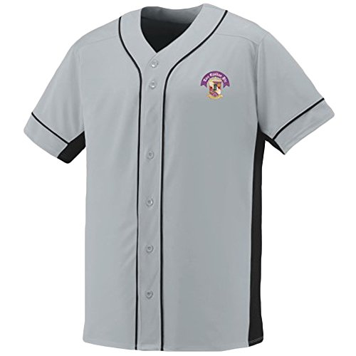 (Tau Epsilon Phi Fraternity Crest Slugger Baseball Jersey Medium Silver/Black)