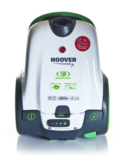 Hoover TGP1410 PurePower GreenRay Energy Efficient Bagged Cylinder Vacuum Cleaner, 1400 W