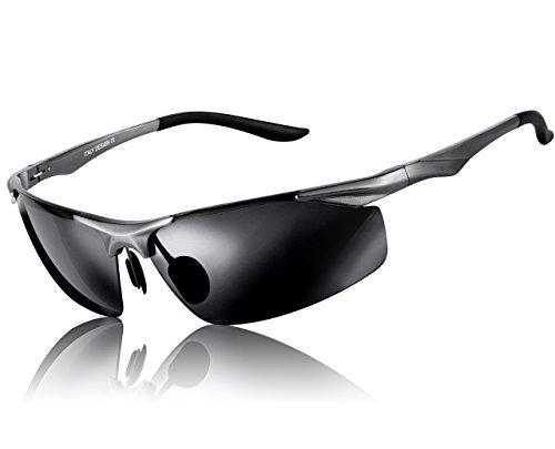ATTCL® 2016 polarisiert Metallrahmen Sonnenbrille herren Sportbrille 2206 Silber