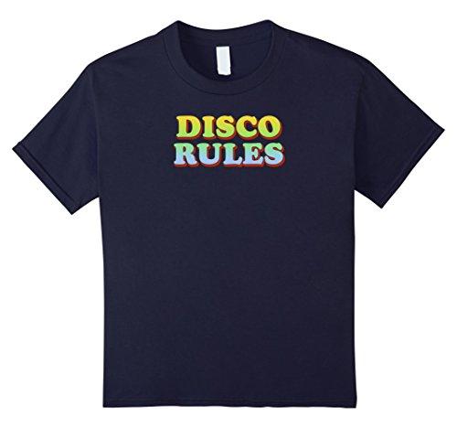 70's Disco Party Costume Ideas (unisex-child Disco Rules 70's Retro Vintage T-Shirt Throwback Tee 12 Navy)