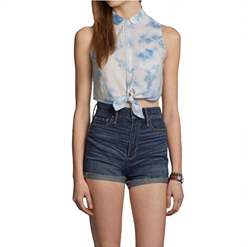 abercrombie-fitch-womens-cropped-shirt-medium-blue