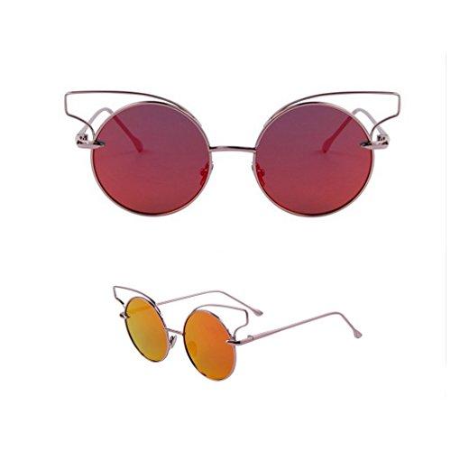 2015 Fashion Women Classic Cat Eye Sunglasses Novelty Eyewear Round Alloy Frame Crush Oculos De Sol Uv400 - Popular Most 2015 Sunglasses