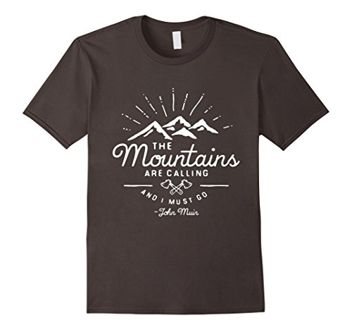 Men's The Mountains Are Calling And I Must Go - John Muis   Large - Mui Mui