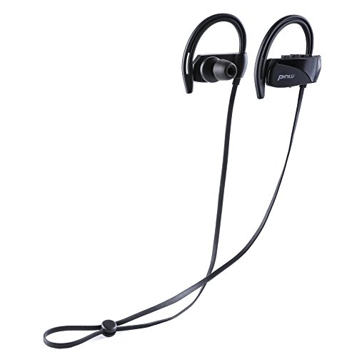 Pinty Sports in-Ear Headphones Running, Wireless Bluetooth Earphones Microphone IPX7 Waterproof Sweatproof, Comfortable Earbuds Noise Cancelling