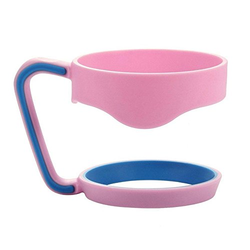 Handle for 30 Oz YETI Tumbler,RTIC,30 Oz Stainless Steel Wide Mouth Mug Cup Holder,Pink with Blue
