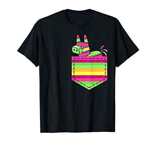Colorful Pinata Pocker Cinco De Mayo Party Mexican Shirt Gif]()
