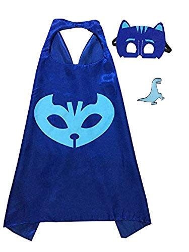 Superhero Cape and Mask Costume for Kids with Pin (Catboy) ()