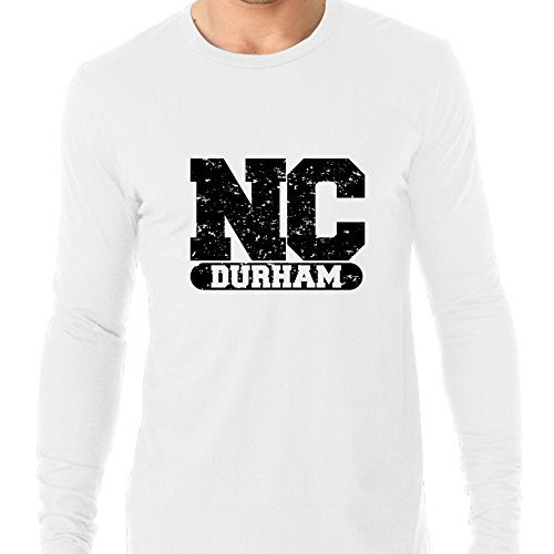 Durham, North Carolina NC Classic City State Sign Men's Long Sleeve T-Shirt -