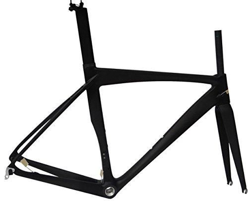 Full Carbon Matt 700c Road Bike Cycling BSA Frame Fork Seatpost Clamp 52cm by x-goods B00MX2678W