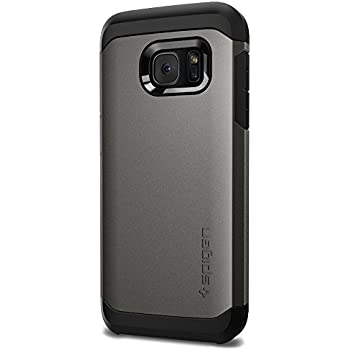 Spigen Tough Armor Galaxy S7 Case with Extreme Heavy Duty Protection and Air Cushion Technology for Samsung Galaxy S7 2016 - Gunmetal
