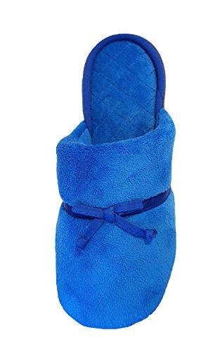 Isotoner Femmes Microterry Kari Sabot True Blue
