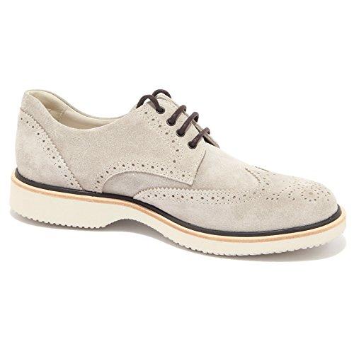 3806Q scarpa uomo HOGAN ROUTE DERBY grigio shoe suede grey men Grigio