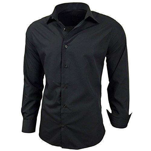 Taille Loisirs Combinaison Longues Manches Basic À 205 Noir Business Fit Slim 6xl Mariage Chemise Jeel S q0dwPtP