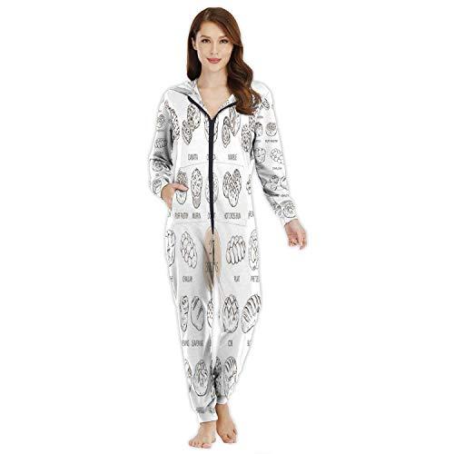 Animal face or Carnival- -,Women's Onesie Pajamas Sportswear Filtration M