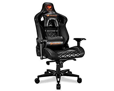 Cougar Armor Titan Ultimate Gaming Chair with Premium Breathable PVC Leather, 160kg Support, 170 Degree Reclining from Cougar