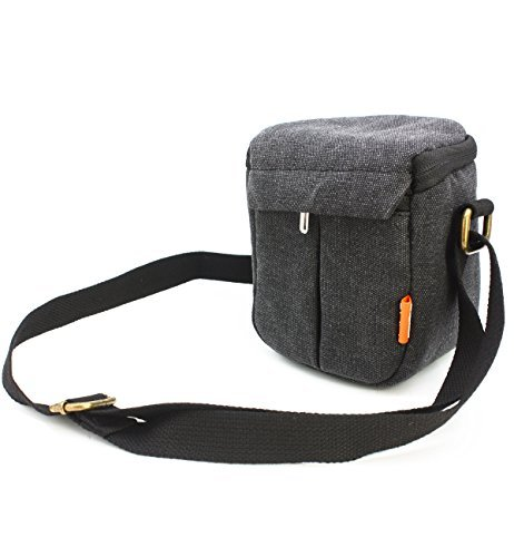 zdMoon Gray Camera case bag Canvas for Sony A5000 A5100 A6000 NEX-5T 5R NEX-7 NEX-6 by zdMoon
