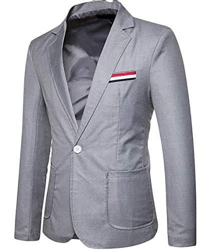 1 Slim Grandes Bouton Blazer Loisirs Basic Manches Homme Casual Tailles Confortable Longues Entreprises Hommes Hellgrau Vêtements Coupe I1xq7E